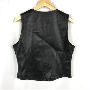 Mixit Jackets & Coats - Vintage Authentic black leather biker Moto vest